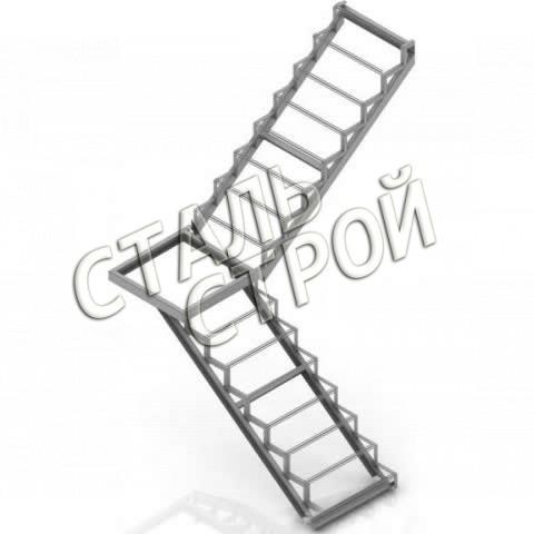 Лестница с площадкой своими руками из металла